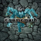 Illustration of Troll with Blue Skin and Four Arms
